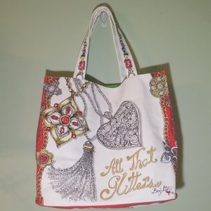 """NWOT Brighton """"All that glitters"""" tote"""